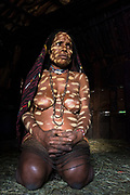 Dani tribe woman (Nisiluk)<br /> Jiwika village<br /> Suroba<br /> Trikora Mountains<br /> West Papua<br /> Indonesia