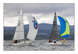 Brewin Dolphin Scottish Series 2010, Tarbert Loch Fyne - Yachting..Day one stated late but resulted in good conditions on Loch Fyne..Class 5, IRL506 ,Murphy's Law ,Nick Holt ,B&FYC ,Point 25 and  GBR7818R ,Jonathan Star ,Bailey/Baldam ,B&FYC ,Starflash...