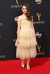 Emily Robinson  bei der Verleihung der 68. Primetime Emmy Awards in Los Angeles / 180916<br /> <br /> *** 68th Primetime Emmy Awards in Los Angeles, California on September 18th, 2016***