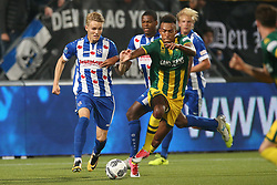 Martin Odegaard of sc Heerenveen, Melvyn Lorenzen of ADO Den Haag during the Dutch Eredivisie match between ADO Den Haag and sc Heerenveen at Kyocera stadium on August 26, 2017 in The Hague, The Netherlands