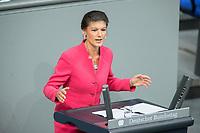 21 MAR 2019, BERLIN/GERMANY:<br /> Sahra Wagenknecht, Die Linke Fraktionsvorsitzende, haelt eine Rede, Bundestagsdebatte zur Regierungserklaerung der Bundeskanzlerin zum Europaeischen Rat, Plenum, Deutscher Bundestag<br /> IMAGE: 20190321-01-089