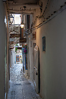 alley in the Italian historic small town of Sperlonga, Latium