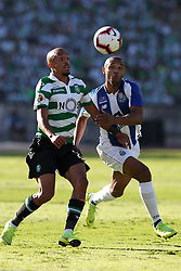 May 25, 2019 - Oeiras, Portugal - OEIRAS, PORTUGAL - MAY 25: Porto's Algerian forward Yacine Brahimi (R ) vies with Sporting's defender Bruno Gaspar from Portugal during the Portugal Cup Final football match Sporting CP vs FC Porto at Jamor stadium, on May 25, 2019, in Oeiras, outskirts of Lisbon, Portugal. (Credit Image: © Pedro Fiuza/NurPhoto via ZUMA Press)