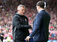 Chris Wilder manager of Sheffield United during the English League One match at Bramall Lane Stadium, Sheffield. Picture date: April 30th, 2017. Pic credit should read: Jamie Tyerman/Sportimage