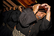 Mexico, Guerrero: Holy week in Taxco : Good Friday, the bearers of the statue of Christ