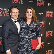 NLD/Amsterdam/20181126 - premiere All You Need Is Love, Eva van der Gucht en partner Domenico Mertens