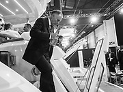 Footballer Geoff Hurst, , Excel Centre, London. 10 January 2018
