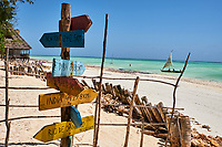 Tanzanie, archipel de Zanzibar, île de Unguja (Zanzibar), plage de Jambiani  // Tanzania, Zanzibar island, Unguja, Jambiani beach