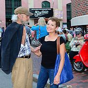 Street scene outside The Music Hall in Portsmouth, NH. before Steve Martin and the Steep Canyon Rangers featuring Edie Brickell perform there, June, 2014