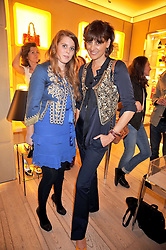 Left to right, PRINCESS BEATRICE OF YORK and INES DE LA FRESSANGE at a reception in aid of Children in Crisis held at the Roger Vivier store, 188 Sloane Street, London on 19th March 2009.