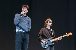 © Licensed to London News Pictures; 03/09/2021; Bristol, UK. WORKING MENS CLUB play the main stage at the Idles on the Downs, where the band Idles will be headlining their Bristol homecoming show. Taking place across three festival-sized stages, the event is a one day festival on the same site on Bristol Downs as Love Saves the Day taking place on Saturday and Sunday. Event organisers Team Love and Simple Things, alongside IDLES, are making available 2,000 complimentary tickets to local NHS workers to say 'thank you' for their amazing work on the frontline of the Covid-19 pandemic.  The festival will also be supporting a range of local community organisations and charities Photo credit: Simon Chapman/LNP.