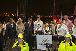 Opening ceremony two days before the start of the in-port race in Alicante, 2-10-1014, Alicante  - Spain.