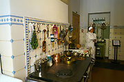 Kitchen in an apartment house of 19th century, art nouveau Centre in Riga , Latvia