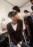 Atmosphere backstage at The Fall 2009 Akiko Ogawa show held at The Salon on February 15, 2009 for the Fall 2009 Fashion Week at Bryant Park in New York City, NY