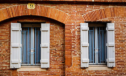 Typical French windows with shutters in Toulouse, France<br /> <br /> (c) Andrew Wilson | Edinburgh Elite media