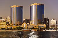 Looking across Dubai Creek to the Deira section of Dubai City, Dubai, United Arab Emirates