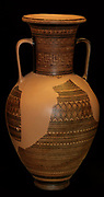 The Elgin Amphora. Greek, made in Athens circa 760-750 BC. Late Geometric period. Attributed to artist Dipylon Painter.