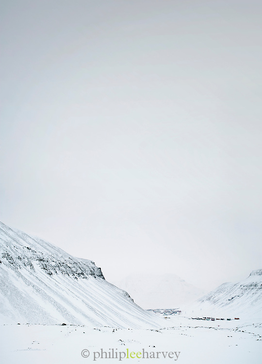 The largest town of the Svalbard archipelago, located in the Arctic Circle, Longyearbyen sits at the base of a huge valley in Spitsbergen, Norway
