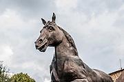 Bronze horse statue based on the design by Leonardo Da Vinci