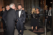 MARTIN ROTH; DAVID BECKHAM; VICTORIA BECKHAM, Alexander McQueen: Savage Beauty Gala, Victoria and Albert Museum, and A. 12th March 2015