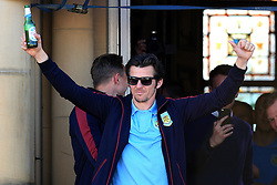 Burnley's Joey Barton celebrates with the fans Burnley Manager Sean Dyche lifts the SkyBet Championship Trophy - Mandatory by-line: Matt McNulty/JMP - 09/05/2016 - FOOTBALL - Burnley Town Hall - Burnley, England - Burnley FC Championship Trophy Presentation