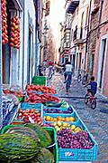 a street market in Majorca