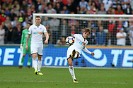Tom Carroll of Swansea city in action.Premier league match, Swansea city v Huddersfield Town at the Liberty Stadium in Swansea, South Wales on Saturday 14th October 2017.<br /> pic by  Andrew Orchard, Andrew Orchard sports photography.