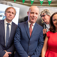 REPRO FREE<br /> Pictured at the opening of the 43rd Kinsale Gourmet Festival at the Blue Haven were Ciaran Fitzgerald, Kinsale Good Food Circle and Blue Haven; Minister Jim Daly; comedian Barry Murphy and Niamh Edwards, Kinsale Good Food Circle and Jim Edwards restaurant. <br /> Picture. John Allen