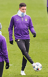 Manchester City's Samir Nasri is pictured during the training session at the Etihad Campus ahead of the UEFA Champions League second leg match against FC Barcelona - Photo mandatory by-line: Matt McNulty/JMP - Mobile: 07966 386802 - 17/03/2015 - SPORT - Football - Manchester - Etihad Campus - Barcelona v Manchester City - UEFA Champions League