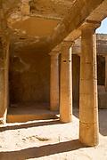 Architectural columns at old ruins, Paphos Archaeological Park, Paphos, Cyprus
