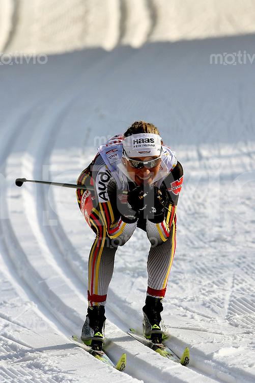 Sapporo , 010307 , Nordische Ski Weltmeisterschaft  Frauen 4x5KM Staffel Rennen ,  Stefanie BOEHLER (GER)