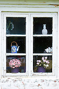 Traditional quaint window of objects and artifacts in Fano - Fanoe -  in Denmark