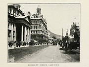 Adderley Street, Capetown, South Africa From the Book '  Britain across the seas : Africa : a history and description of the British Empire in Africa ' by Johnston, Harry Hamilton, Sir, 1858-1927 Published in 1910 in London by National Society's Depository