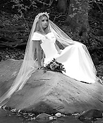 Location Black and White Bridal Portrait Photography