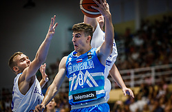 Nemanic  Rok of Slovenia during basketball match between National teams of Greece and Slovenia in the Group Phase C of FIBA U18 European Championship 2019, on July 29, 2019 in  Nea Ionia Hall, Volos, Greece. Photo by Vid Ponikvar / Sportida