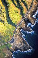Kalanianeole Highway along the edge of Koko Crater, Oahu, Hawaii