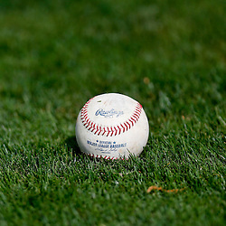 Feb 23, 2013; Lakeland, FL, USA; A detail of a baseball on the field prior to a spring training game between the Detroit Tigers and the Toronto Blue Jays at Joker Marchant Stadium. Mandatory Credit: Derick E. Hingle-USA TODAY Sports