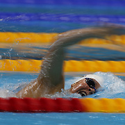 Elizabeth Beisel, USA, in action during the Women's 400m Individual Medley during the swimming heats at the Aquatic Centre at Olympic Park, Stratford during the London 2012 Olympic games. London, UK. 28th July 2012. Photo Tim Clayton