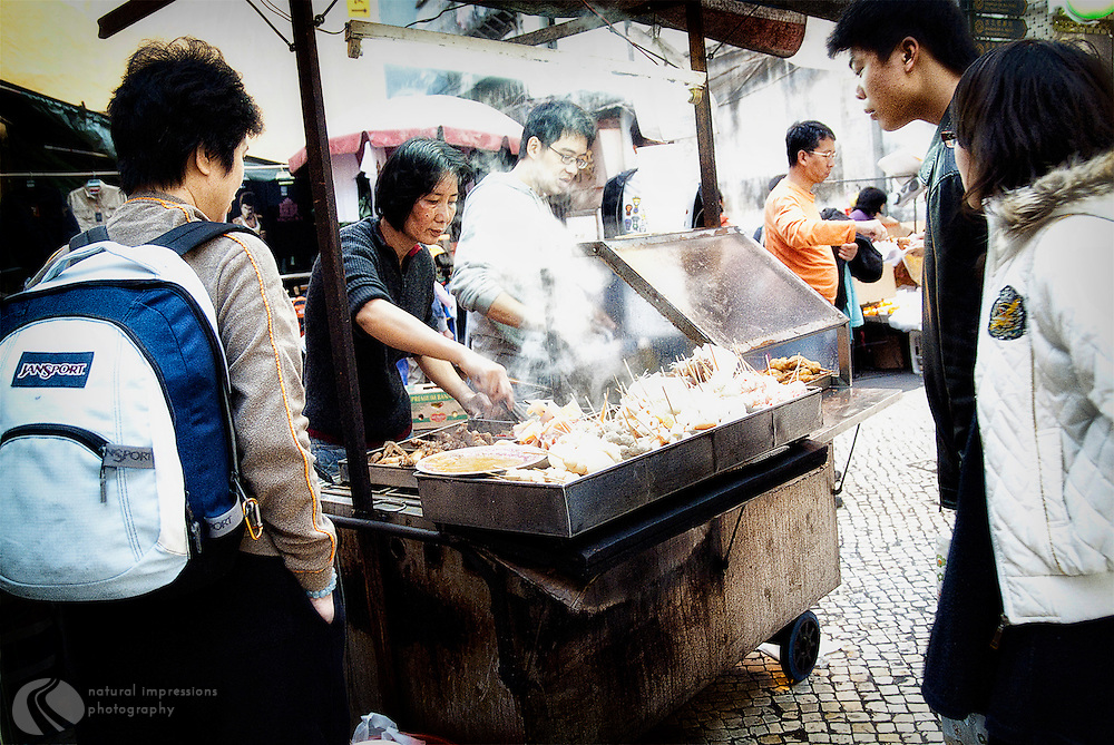 What's for lunch at this steaming cart?