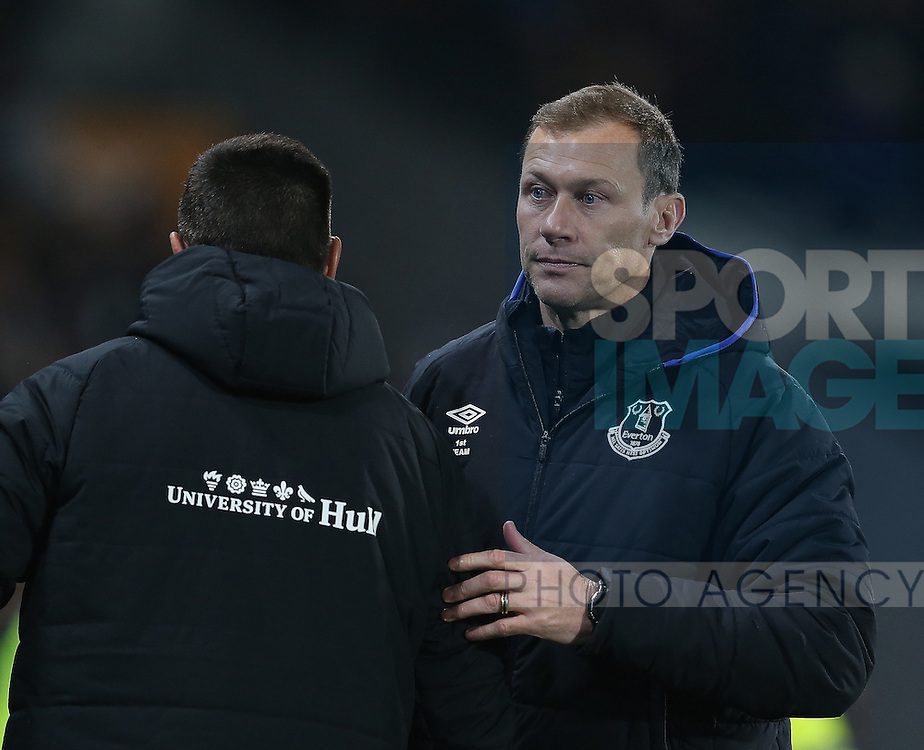 Duncan Ferguson Everton coach during the English Premier League match at the KCOM Stadium, Kingston Upon Hull. Picture date: December 30th, 2016. Pic Simon Bellis/Sportimage