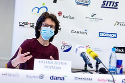 Helena Zevnik Rozman at press conference of charity event Dobrodelnost okoli Slovenije, on April 20, 2021 in Galerija Druzina, Ljubljana, Slovenia. Photo by Matic Klansek Velej / Sportida