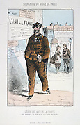 Franco-Prussian War 1870-1871: Siege of Paris 19 Sept 1870-28 Jan 1871. A member of the Legion of Friends of France, made up of Belgian, Italian and British residents. From 'Souvenirs du Siege de Paris' by Jules Renard Draner. France Germany