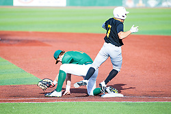 16 July 2020: Jake McCaw o7 during a Kernel League Baseball game between the Bobcats and the Hoots at Corn Crib Stadium on the campus of Heartland Community College in Normal Illinois