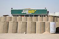 Subway sandwhich restaurant on a base in Basra, Iraq.