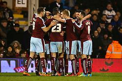 Burnley celebrate Andre Gray of Burnley goal, Fulham 2-3 Burnley - Mandatory by-line: Jason Brown/JMP - Mobile 07966 386802 08/03/2016 - SPORT - FOOTBALL - Fulham, Craven Cottage - Fulham v Burnley - Sky Bet Championship