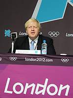 Olympic Athletes Village Oylmpic games 12/07/2012 Credit : Colorsport / Andrew Cowie<br /> London Mayor, Boris Johnson for the Athletes Village.
