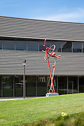 Elements in Motion Sculpture in Front of the Business Sciences and Technology Innovation Center