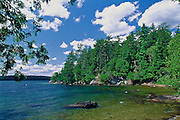 Beautiful cove on lake in Quebec, Canada.