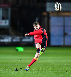 Dragons' Arwel Robson during the pre match warm up<br /> <br /> Photographer Craig Thomas/Replay Images<br /> <br /> Guinness PRO14 Round 18 - Dragons v Cheetahs - Friday 23rd March 2018 - Rodney Parade - Newport<br /> <br /> World Copyright © Replay Images . All rights reserved. info@replayimages.co.uk - http://replayimages.co.uk