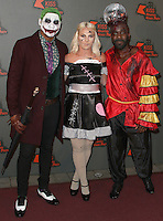 Rickie Haywood Williams, Charlie Hedges & Melvin Odoom, Kiss FM Haunted House Party 2016 - VIP Arrivals, The SSE Arena Wembley, London UK, 27 October 2016, Photo by Brett Cove